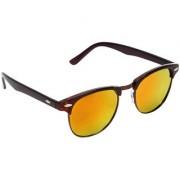 Zyaden Brown Unisex Clubmaster Sunglasses 17