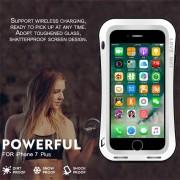 EH AMOR MEI PODEROSA Cintura Pequeña Para El IPhone 7 Plus Funda Protectora De Arco Redondo - Blanco
