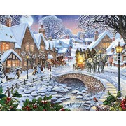 White Mountain Puzzles Winter Village Jigsaw Puzzle (1000 Piece)