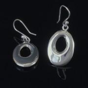 Situla - Ovala silver örhängen med hål