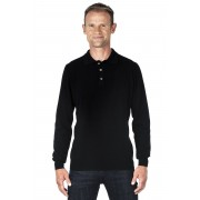 Ugholin Pull col polo cachemire homme 100% noir