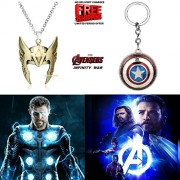 2 Pc AVENGER SET - THOR HELMET / CROWN GOLD COLOUR IMPORTED PENDANT & CAPTAIN AMERICA REVOLVING SHIELD METAL KEYCHAIN ❤ LATEST ARRIVALS - RINGS, KEYCHAINS, BRACELET & T SHIRT - CAPTAIN AMERICA - AVENGERS - MARVEL - SHIELD - IRONMAN - HULK - THOR - X MEN -