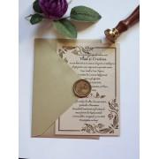 Invitatie nunta cu sigiliu OPIS051