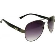 Mangal Brothers Aviator Sunglasses(Black, Violet)