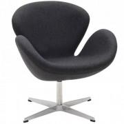 Design Town Fotel ŁABĘDŹ - inspirowany proj. Swan Chair - szary