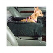 Snoozer Pet Products Luxury Microfiber Console Dog & Cat Car Seat, Anthracite, Small