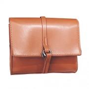 Rrimin Fashion Women PU Leather Mini Messenger Bag Ladies Shoulder Crossbody Bag (Brown)