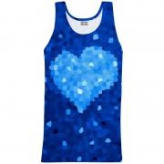 Mr. Gugu & Miss Go Glass Heart Tank Top T Shirt TT730