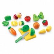 Set educativ - Joc de imaginatie Micul bucatar - Set de fructe si legume