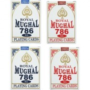 Parksons Royal Mughal 786 XL Plastic Coted Poker Playing Cards-(Multicolour)- Pack of 4