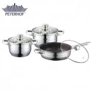 Set cratite inox cu capac 6 piese Peterhof 50x27x14 cm, PH-15829