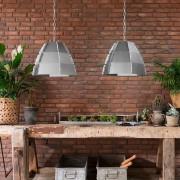 QAZQA Set of 2 Pendant Lamp Niro Steel