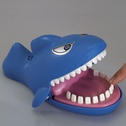 "Snappy Shark Game Dentis Game Classic Biting Hand Game Catch Me Game, Flashing Eyes, Evil Laugh, Hungry Shark Measures 9"" Long X 5 1/4"" Wide X 4"" Tall"