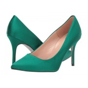 JCrew Satin Basic Elsie Pump with Glitter Sole Spicy Jade