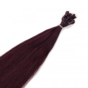 Rapunzel® Extensions Naturali Nail Hair Original Liscio 6.12 Dark Mahogany Brown 30 cm