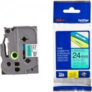 Етикетна лента Brother TZ-751 Tape Black on Green, Laminated, 24mm, 8 m - Eco, TZE751