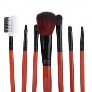Pensule Make-Up Par Natural Maro Megaga Set 7 Buc