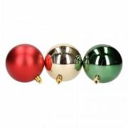 Geen 6-delige kerstballen set rood/groen