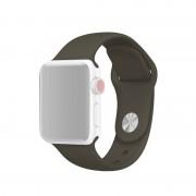 Voor Apple Watch serie 3 & 2 & 1 42mm Fashion eenvoudige stijl siliconen pols horloge Band (leger-groen)