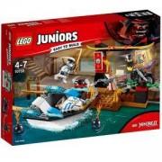 Конструктор Лего Джуниърс - Преследване с лодката на Zane, LEGO Juniors, 10755