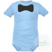 SiMEDIO Body bébé élégant : NOEUD PAPILLON - Bleu Courtes