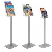 Edimeta Porte brochure plexi-cristal sur pied 8 cases 1/3 A4