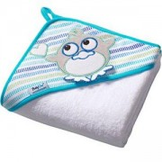 Бебешка хавлия с качулка и гъба за баня TERRY - бяла, 142 06 BabyOno, 5901435406953