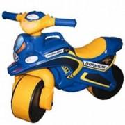 Motocicleta de politie Doloni cu sunete si lumini albastru cu galben