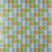 Maxwhite ASHS242 Mozaika skleněná zelená žlutá bílá 29,7x29,7cm sklo