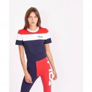 Fila Maya Colour Block Cropped - Dames T-Shirts