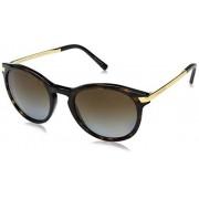 Michael Kors 0MK2023 Sun Full Rim Round Womens Sunglasses Size 53 (Brown Tortoise Gold / Lens: Brown Gradient)