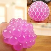 6cm Anti - Estres Relevista Extrusión Compresión Cara De Bola De Humor Sano Uva Socorro Gracioso Tricky Vent Toy (magenta)