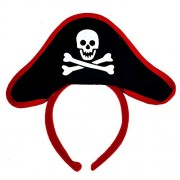 Funcart Pirate Red & Black Hair Band