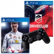 Игра FIFA 18 за PlayStation 4 - PS4 + Игра DRIVECLUB PS4 + Геймпад - Sony PlayStation DualShock 4 Wireless