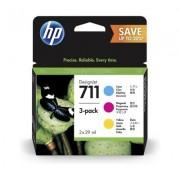 HP Cartouches d'encre cyan/magenta/jaune HP 711 DesignJet, 29 ml (pack de 3)