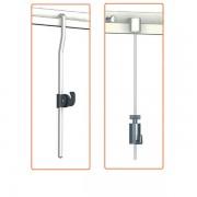 Edimeta Kit cimaises classiques tiges 4 x 4 mm laqué blanc anti-dégondables