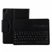 Miimall P1318 Funda de cuero plegable teclado Bluetooth - Negro