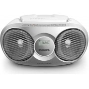 Micro Sistem Philips AZ215S, CD Player (Argintiu)