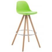 CLP Taburete Rund FRANKLIN con Estructura de Plástico, verde verde, altura del asiento