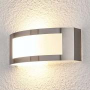 Lampenwelt.com Raja - applique d'extérieur LED en inox - LAMPENWELT.com