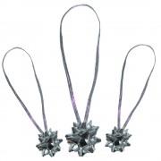 Fundite argintii elastice pentru cadouri, Radar B37637, Set 6 buc
