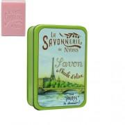 L.S.N.32507 Rózsa szappan 200gr,shea vajjal és oliva olajjal,fémdobozban