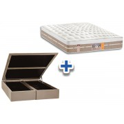 Conjunto Box-Colchão Castor Silver Star Air+Cama - Queen 158