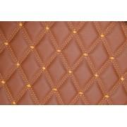 Material special pentru COVORASE auto romb maro/cusatura maro.Cod: COV02MM
