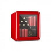 Klarstein PopLife Dryckeskylare Kylskåp 0-10°C Retrodesign Röd