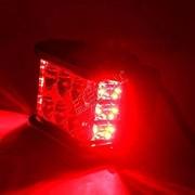 SLB Works 2pcs x 12leds Cube 60W LED Work Light Side Shooter Spotlight 12v 24v for Off Road 4x4 Racing SUV Truck car ATV UTV Motorcycle Color Red