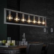 Zaloni Hanglamp Steps 165 cm breed in oud zilver