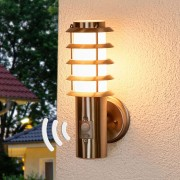 Lampenwelt.com Selina - sensor-buitenwandlamp met rooster