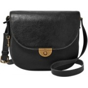 Fossil Women Black Genuine Leather Hand-held Bag