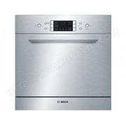 BOSCH lave-vaisselle compact 60cm 8 couverts a+ intégrable avec façade apparente inox - sce52m65eu